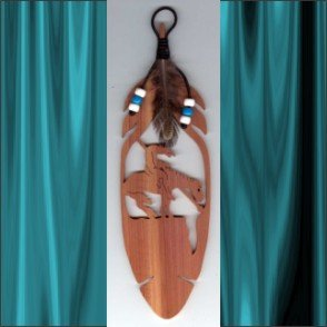 End of the Trail  Aromatic Cedar Feather Wall Hanging