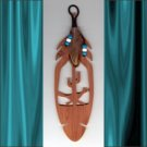 Roadrunner  Aromatic Cedar Feather Wall Hanging