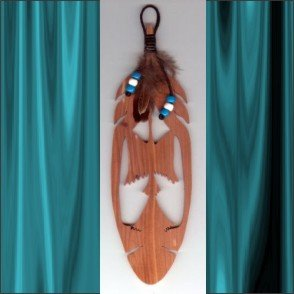 Phoenix  Aromatic Cedar Feather Wall Hanging
