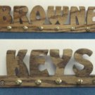 Custom Key Chain or Ring  Rack or Holder - Dark Oak