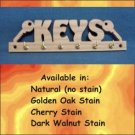 Custom Oak Key  Rack Holder  6 Hooks for Key Rings or Chains
