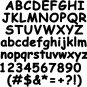 Oak Comic  3 Inch Wood Letters Numbers Names Wooden