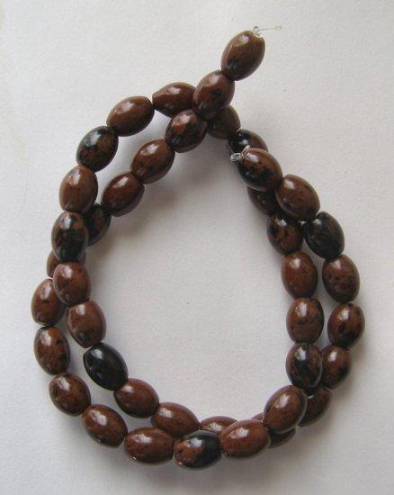 """Mahogany Obsidian 10x8 Oval Beads 15.5"""" strand"""