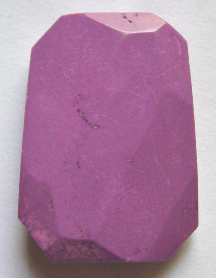Purple Turquoise Magnesite Faceted 40x30 Ladder Pendant Bead