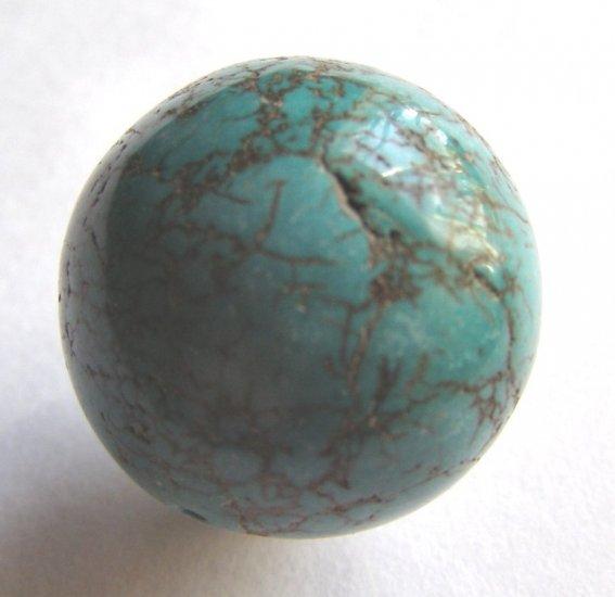 Turquoise Magnesite 26mm Round Pendant Bead