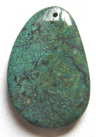 Chrysocolla Jasper 50x33 Freeform Pendant Bead