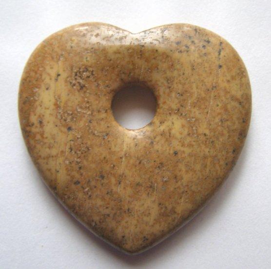 Picture Jasper 45x45 Heart Pendant Bead