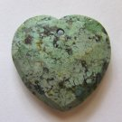 African Turquoise 33x33 Faceted Heart Pendant Bead