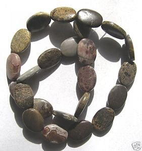 "Artistic Jasper 16x12 Oval Beads 15.5"" strand"