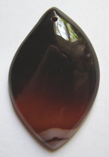 Banded Red Agate 51x33 Marquise Pendant Bead