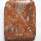 Flame Jasper 40x30 Rectangle Pendant Bead