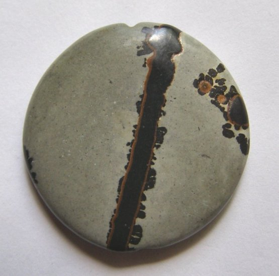 Nature's Paintbrush Jasper 35mm Disc Pendant Bead