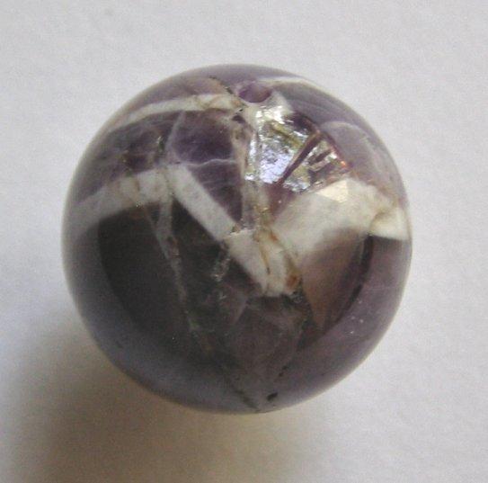 Amethyst 20mm Round Pendant Bead