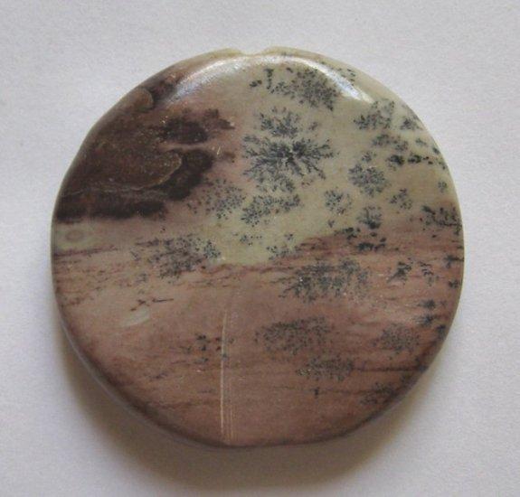 Apache Jasper Carved Disc 35mm Pendant Bead