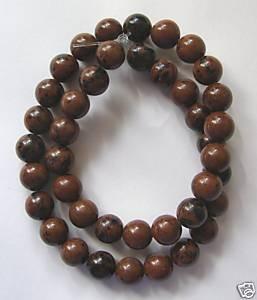 """Mahogany Obsidian 10mm Round Beads 15.5"""" strand"""