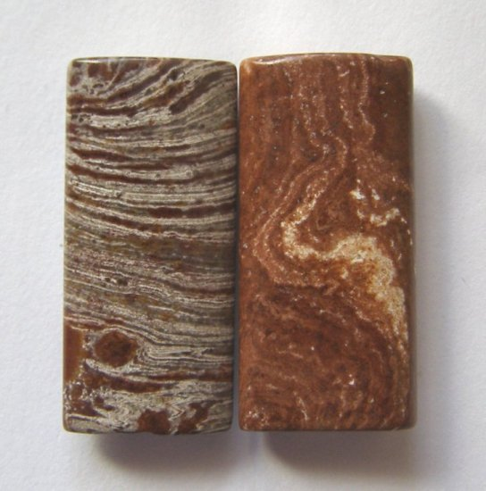 2 Surreal Jasper 30x14 Rectangle Beads