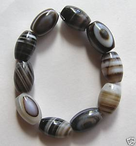 10 Sardonyx Agate14x8 Barrel Beads