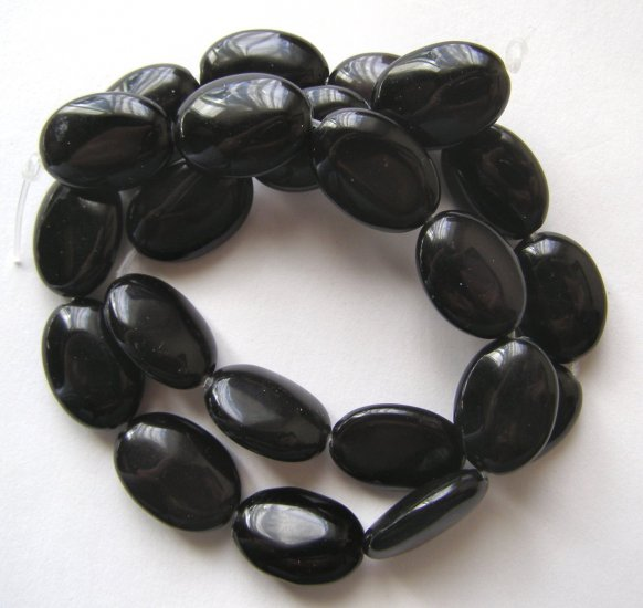 "Rainbow Obsidian 18x13 Flat Oval Beads 15.5"" Strand"