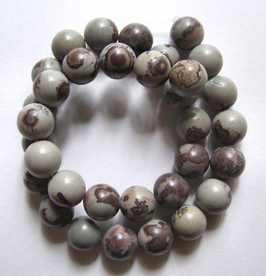 """Apache Jasper 12mm Round Beads 16"""" strand"""