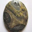 Nature's Paintbrush Jasper 45x35 Oval Pendant Bead