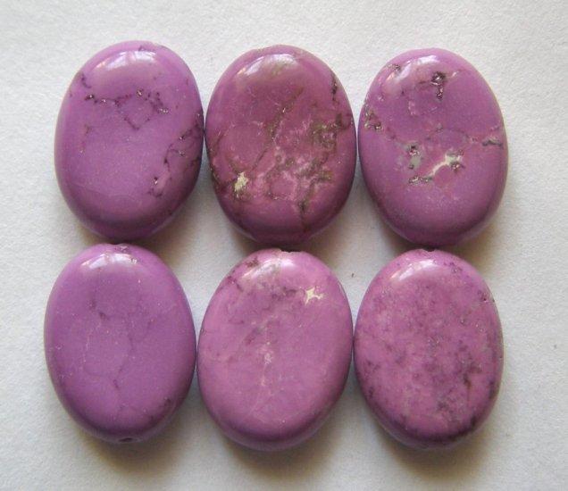 6 Purple Turquoise Magnesite 16x12 Oval Beads