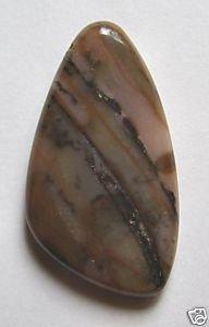 Brown Sage Jasper 40x22 Freeform Pendant Bead