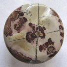 Apache Jasper Carved Disc 35mm Pendant Bead