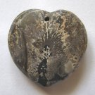 Nature's Paintbrush Jasper Faceted Heart Pendant Bead