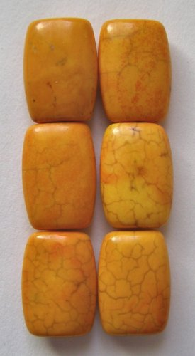 6 Sunset Turquoise Magnesite16x12 Rectangle Beads