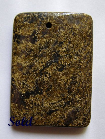 Bronzite 43x30 Rectangle Pendant Bead