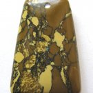 Brown Compressed Turquoise 41x29 Ladder Pendant Bead