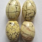 4 Goldenrod Magnesite 18x13 Barrel Beads