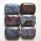 6 Purple Ocean Jasper 19x14 Rectangle Beads