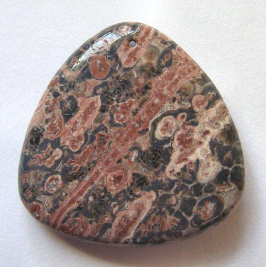 Leopardskin Jasper 35x35 Triangle Pendant Bead