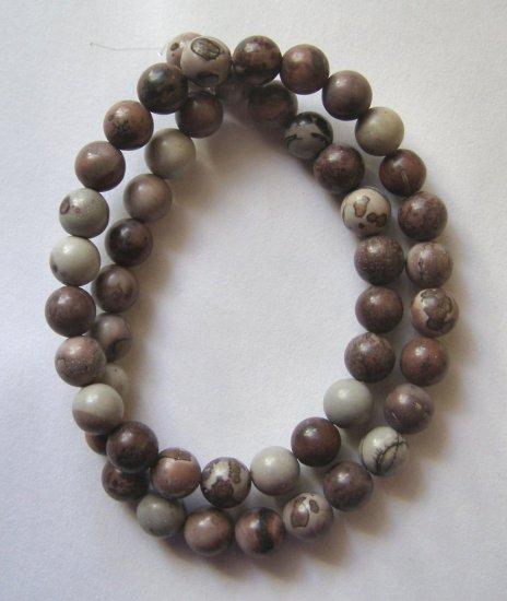 """Apache Jasper 8mm Round Beads 15.5"""" strand"""