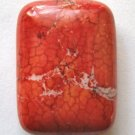 Really Red Magnesite  30x22 Rectangle Bead