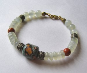 Ocean Jasper and New Jade Bangle Bracelet