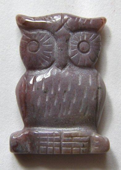 Fancy Jasper 32x24 Carved Owl Pendant Bead