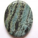 Green Zebra Jasper 46x36 Oval Pendant Bead