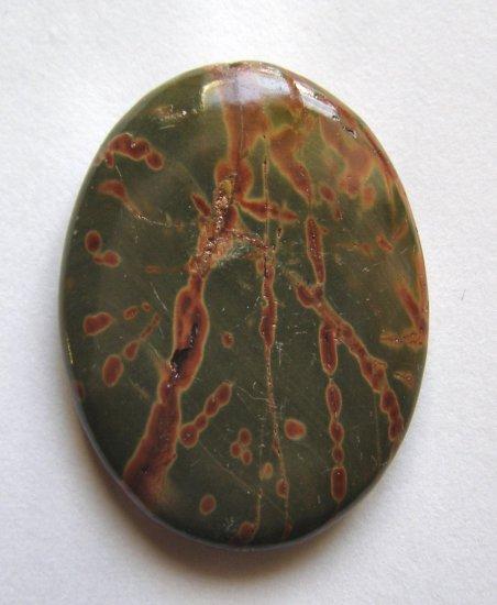 Mud Jasper 40x30 Oval Pendant Bead