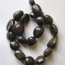 "Tiger Iron 21x18 Pebble Beads 16"" strand"