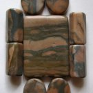 Desert Sunset Picture Jasper Pendant Bead Set