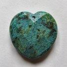 Chrysocolla Jasper 33x33 Faceted Heart Pendant Bead