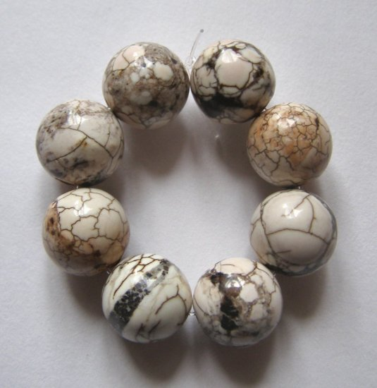 8 Terracotta Blush Magnesite 12mm Round Beads