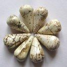 8 Yellow Turquoise Magnesite 26x13 Teardrop Pendant Beads