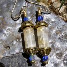 Citrine and Faceted Crystal Artisan Made Earrings