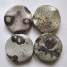 4 Apache Jasper 25mm Wavy Coin Beads