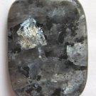 Larvikite 40x30 Rectangle Pendant Bead
