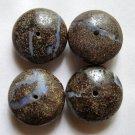 4 Boulder Opal 16x8 Rondelle Beads