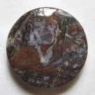 Pietersite 30mm Disc Pendant Bead